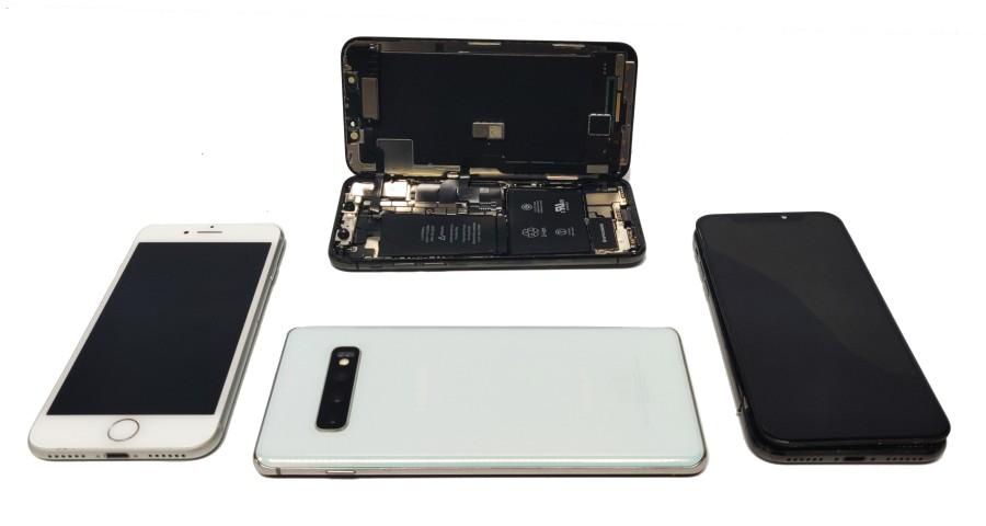 Smartphone cracked screen repair